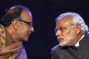 Narendra Modi, Arun Jaitley, Jan Dhan Yojana