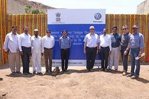 Volkswagen India CSR activity Naiphad Maharashtra