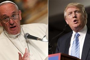 Donald Trump, Pope Francis, Catholic Republicans, Bernie Sanders