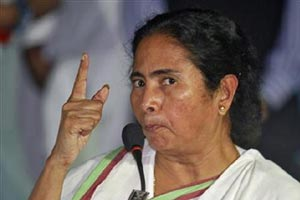 """""""Three states--Kerala, West Bengal and Punjab-- are already in debt traps. These are not debt traps but death traps. This is very destructive for the federal structure,"""" Mamata said.  (Reuters)"""