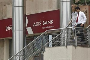Axis Bank q1 shares