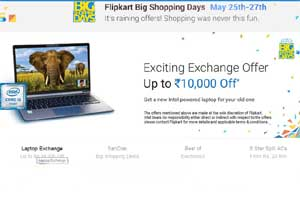 Flipkart's 'Big Shopping Days sale' will be on from 25th May to 27th . Citibank debit and credit card customers will get 10 percent cashback on several of the products on offer. (Flipkart)