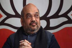 Shah said after the victory in Assam, BJP's main target would be to form the next government in Bengal. (Express Photo)