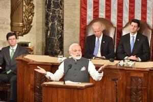 Modi in US, modi in us congress, modi in us congress highlights