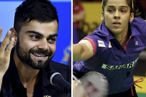 virat and saina