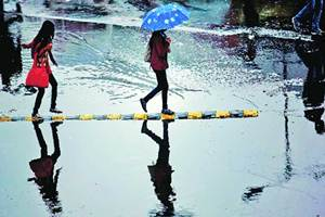 Bankura received 172.6 mm rainfall, the highest in the state, in 24 hours from yesterday, the Met department said.(Source: IE)