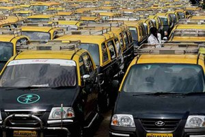 """""""We are of the view that if the city taxis are willing, these can also be aggregated. But they have to comply with all local regulations and fuel norms of the states they would ply in,"""" said a transport ministry official. (Source: PTI)"""
