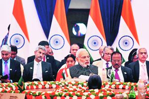 Prime Minister Narendra Modi at the recently-concluded BRICS Summit in Benaulim, Goa