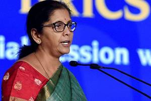 """""""Now, it is important for us to interact with states even more to quickly identify many such things which are important so that its impact is visible at the ground level,"""" Sitharaman said. (PTI)"""