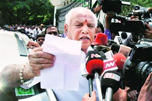 Yeddyurappa, his two sons B Y Raghavendra and B Y Vijayendra, his son-in-law R N Sohan Kumar, and nine others — including top officials of private steel manufacturer JSW Steel — were acquitted of all charges in the case by principal CBI judge R B Dharmagoudar.