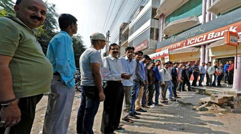 Even after a month of its implementation, several cash-starved people had been seen standing on never-ending queues outside banks and ATMs. (Reuters)