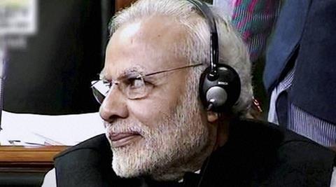 Prime Minister Narendra Modi present in the Lok Sabha in New Delhi on Wednesday. (PTI)