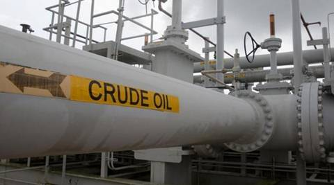 U.S. oil prices hit their biggest discount to global benchmark Brent crude in five months on Tuesday.  (Reuters)