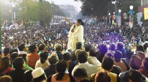 Mamata Banerjee addressing a rally. (Source: Twitter)