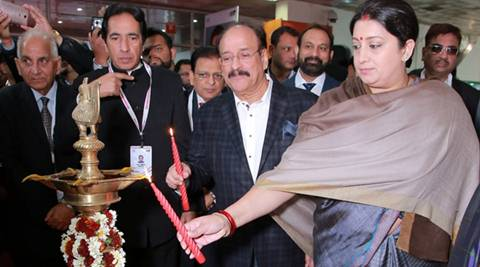 Union Minister for Textiles Smriti Irani inaugurates the 58th edition of India International Garment Fair. (PIB)