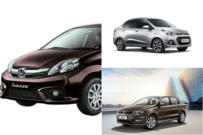 2017 Hyundai Xcent Facelift Vs Honda Amaze Vs Volkswagen Ameo The