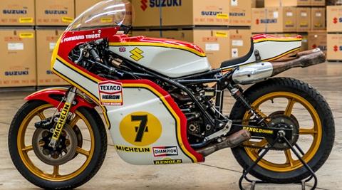 Barry Sheene's title winning XR14 RG500 being restored by Suzuki