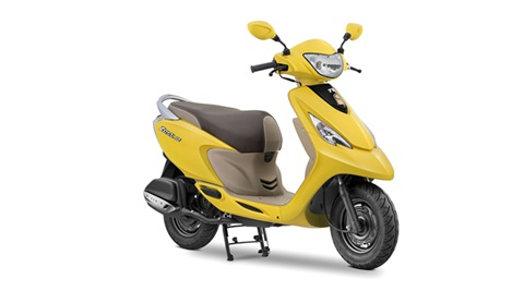 TVS Scooty Zest 110 launched with new Matte colours