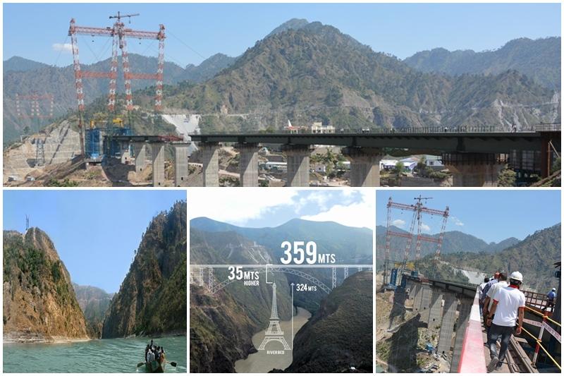 Chenab bridge, Chenab bridge images, Chenab bridge project details