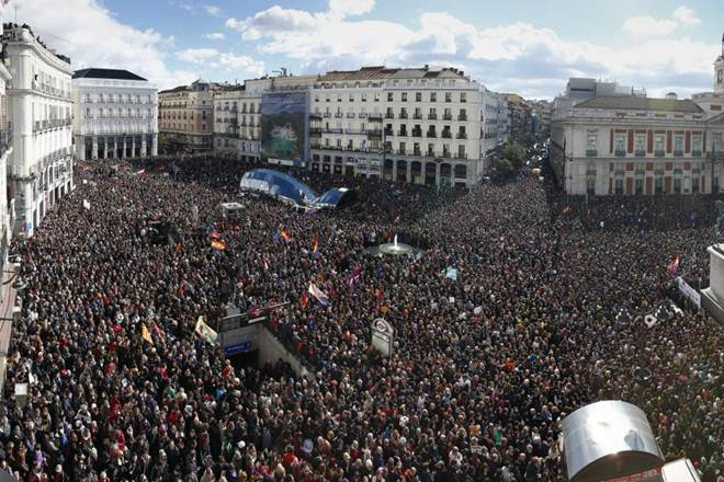 Spain, Economy, Madrid, Job, March of dignity, protest, rally