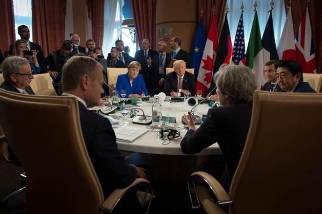 G7 summit, Facebook,Google, Terror attack, Manchester attack,efforts against terror, Theresa may, Donald Trump, angela Merkel