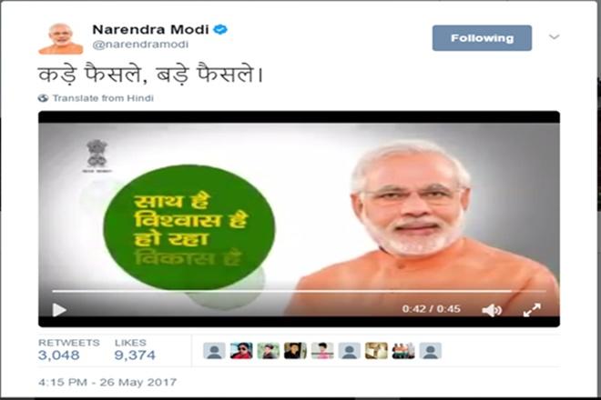 modi 3 years, 3 years of modi government, narendra modi 3 years, twitter narendra modi, twitter 3 years of modi government, twitter record modi government