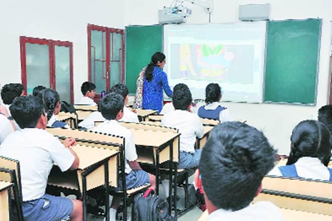 digital divide, Digital transformation, Digital transformation of classrooms, ICT based initiatives, computerisation of schools, installation of CCTV, biometrics, Centre Locator app