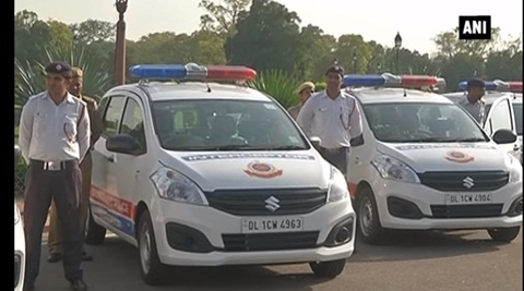 New Delhi Police interceptors can catch speeding cars and riders without helmet even at night