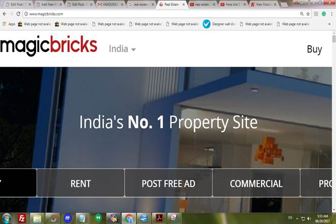 real estate online companies, Internet-based real estate, Housing.com, PropTiger, MagicBricks, 99acres, CommonFloor
