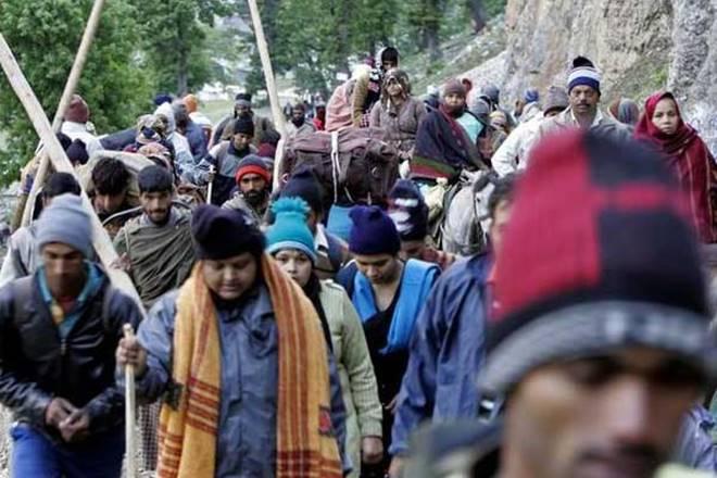 Amarnath Yatra,Amarnath Yatra pilgrims,Bhagwati Nagar Yatri Niwas, jammu,Lord Shiva,Kashmir Pahalgam route,Raksha Bandhan festival,Chari Mubarak