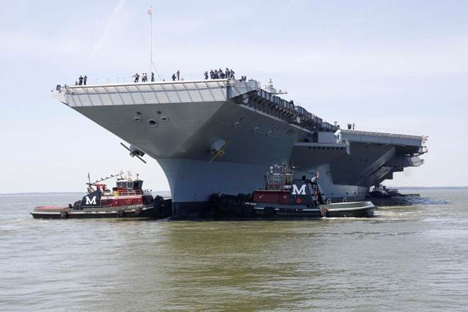 Donald Trump, Congress, new aircraft carrier, Gerald R Ford, military funds boost, Navy's newest aircraft carrier
