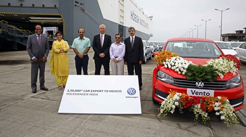 Volkswagen India exports its 2,50,000th car to Mexico