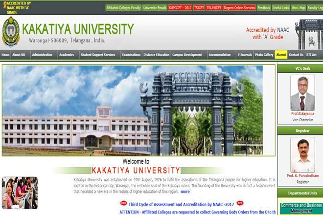 Kakatiya University UG results 2017, Kakatiya University UG results 2017 website, Kakatiya University UG results 2017 news, kakatiya.ac.in, third year BSc July exam, third year BScB July exam, third year BCom July exam, third year BBM July exam, third year BA July exam, fifth year LLB (5YDC) May exam, fifth year LLB (3YDC) May exam, fourth year BPharmacy June exam, fourth year BPharmacy (LE) June exam, fourth year BTech May exam