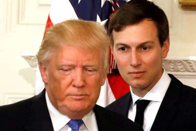 U.S. President Donald Trump and his senior advisor Jared Kushner arrive for a