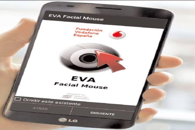 Vodafone EVA facial app,amyotrophic lateral sclerosis,Vodafone Spain Foundation,Eva Facial Mouse,Vodafone social app hub
