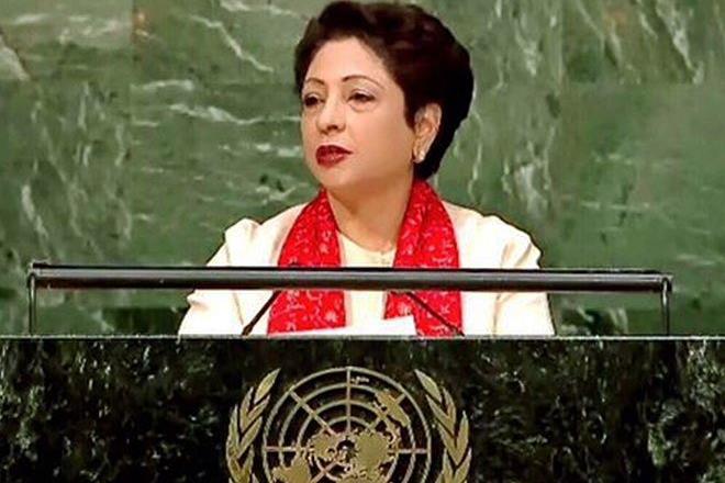 Maleeha Lodhi, Pakistan, sushma swaraj,Kashmiris,Palestinian victims, UNGA