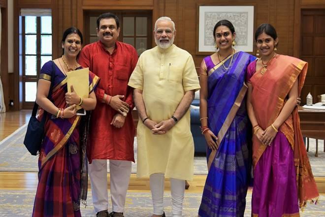 PM Narendra Modi, PM Modi, MS Subbulakshmi, PM Narendra Modi meets family members of Bharat Ratna MS Subbulakshmi