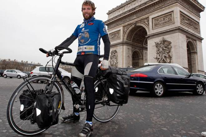 british cyclist, scottish adventurer, Around the world in 79 days, Mark Beaumont, record breaker cyclist, world news