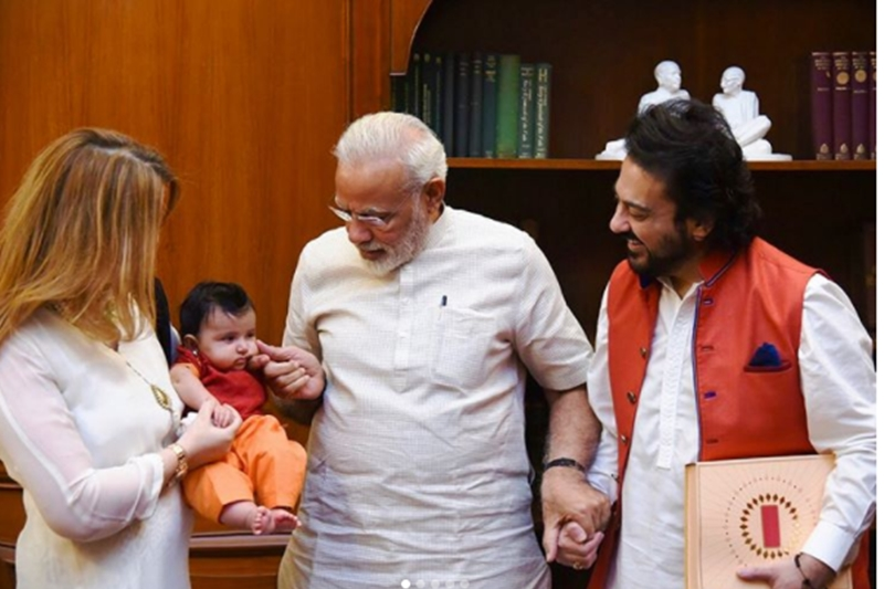 Adnan sami, Adnan sami meeting, Adnan sami meeting narendra modi, Adnan sami songs, Adnan sami movie, Adnan sami daughter, Adnan sami wife,