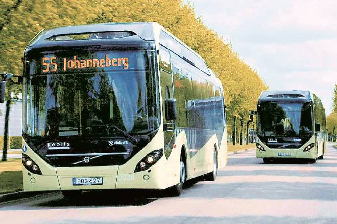 electric buses, hybrid
