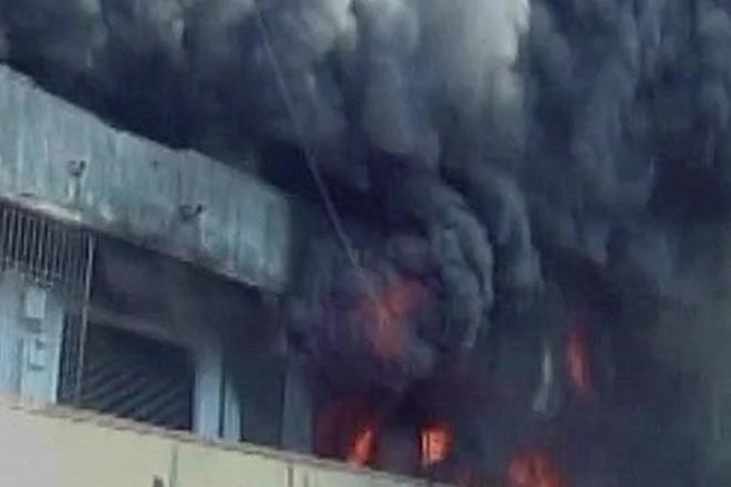 Fire in gujarat, gujarat fire,Kandla port, fire breakout
