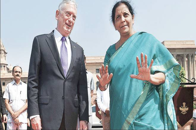 Nirmala Sitharaman, India, US, Defence Technology and Trade Initiative, India US defence cooperation, James Mattis, Indo-Pacific region, india, new delhi