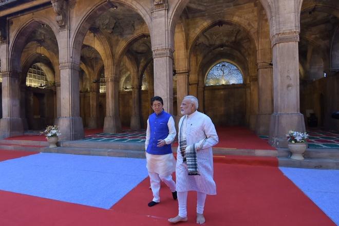 Shinzo Abe in India, Shinzo Abe, PM Modi, Narendra Modi,Modi jacket, Xi Jinping,mumbai ahmedabad bullet train