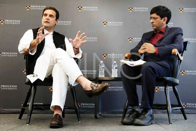 Rahul gandhi, India china relationship,Princeton University,Congress Vice president,Make In India initiative, unemployment in India,Economic Competition, China india ties
