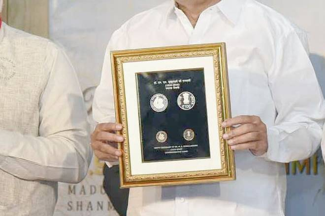 rs 100 coin, new rs 100 coin, rs 100 coin launched, Venkaiah Naidu, rs 100 coin subbulakshami, new rs 100 coins, rs 100 coin new picture, new rs 100 commemorative coin