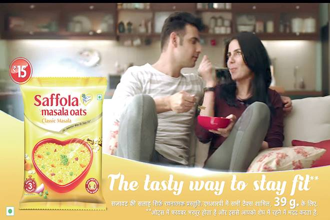 saffola masala oats, urban markets, Marico, TV commercial of saffola, The Tasty Way to Stay Fit, review of saffola advertisments