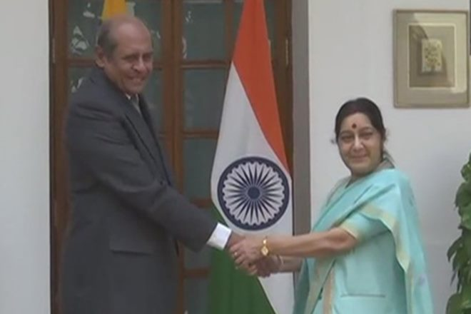 Tilak Marapana, Sushma Swaraj, India Sri Lanka partnership, SAARC