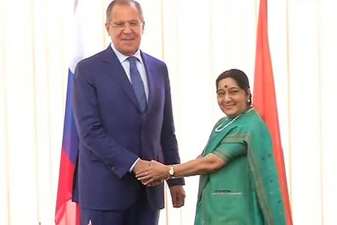 Sushma Swaraj, India, Russia, Russian far east, Eastern Economic Forum, Russian Foreign Minister Sergei Lavrov,Russian President Vladimir Putin