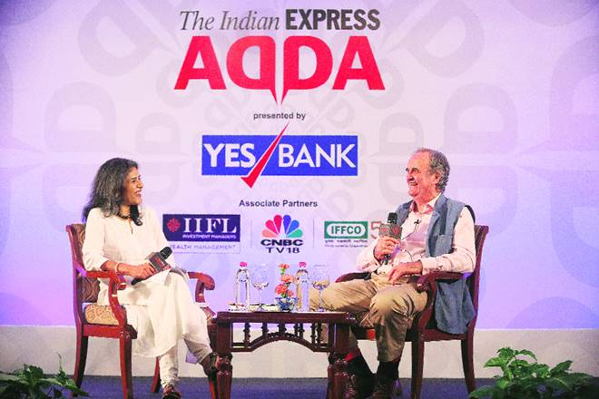 Sir Mark Tully, Sir Mark Tully on journalism, Sir Mark Tully on media, Sir Mark Tully on express adda, TV in India, Indira Gandhi's assassination, TV news, power of rumour