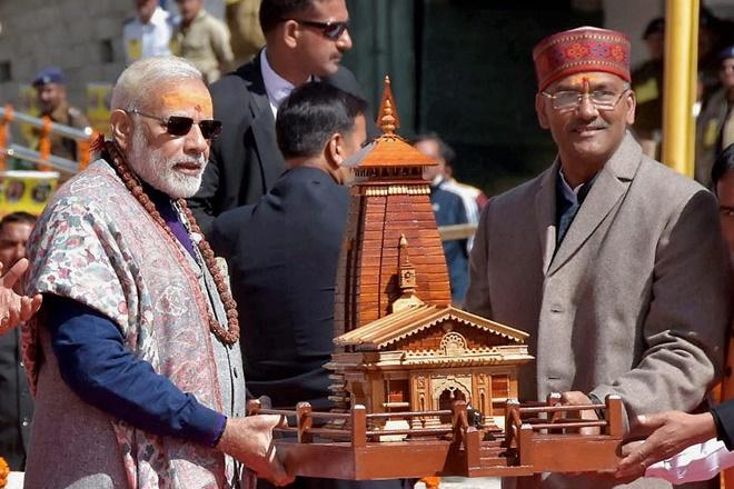 narendra modi, kedarnath temple, modi kedarnath, congress, vijay bahuguna joshi, bjp, kedarnath row, uttarakhand floods